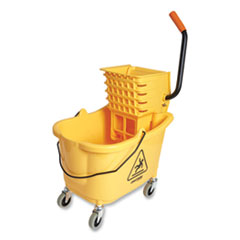 Coastwide Professional™ Bucket and Side-Press Wringer, 35 qt, Yellow/Black