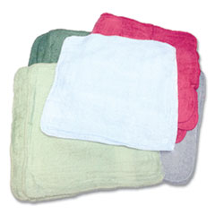 Monarch Brands® Qwick Wick Terry Towels, 12 x 12, Assorted Colors, 25 lb Bale (Approximately 280/Bale)