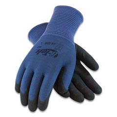 G-Tek® GP Nitrile-Coated Nylon Gloves, Small, Blue/Black, 12 Pairs