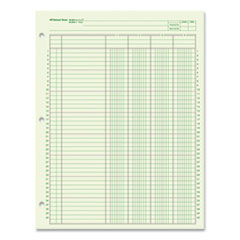 National® Side-Punched Analysis Pad, Four Column, 8.5 x 11, Green, 50 Sheets/Pad