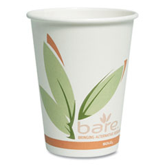 Dart® Bare by Solo Eco-Forward Recycled Content PCF Paper Hot Cups, 12 oz, 1,000/Ct