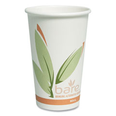 Dart® Bare by Solo Eco-Forward Recycled Content PCF Paper Hot Cups, 16 oz, 1,000/Ct