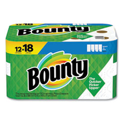 Bounty® Select-a-Size Kitchen Roll Paper Towels, 2-Ply, White, 5.9 x 11, 74 Sheets/Roll, 12 Rolls/Carton