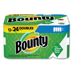 Bounty® Select-a-Size Kitchen Roll Paper Towels, 2-Ply, White, 5.9 x 11, 98 Sheets/Roll, 12 Rolls/Carton