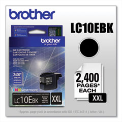 Brother LC10EBK INKvestment Super High-Yield Ink, 2,400 Page-Yield, Black