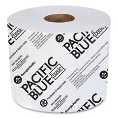 Georgia Pacific® Professional Pacific Blue Basic High-Capacity Bathroom Tissue, Septic Safe, 2-Ply, White, 1,000 Sheets/Roll, 48 Rolls/Carton