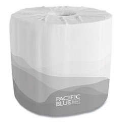 Georgia Pacific® Professional Pacific Blue Basic Embossed Bathroom Tissue, Septic Safe, 1-Ply, White, 550 Sheets/Roll, 40 Rolls/Carton
