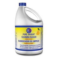 Pure Bright® Liquid Bleach, Lemon Scent, 128 oz Bottle, 6/Carton
