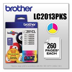 Brother LC2013PKS Innobella Ink, 260 Page-Yield, Cyan/Magenta/Yellow
