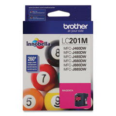Brother LC201M Innobella Ink, 260 Page-Yield, Magenta