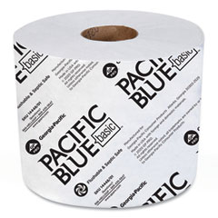 Georgia Pacific® Professional Pacific Blue Basic High-Capacity Bathroom Tissue, Septic Safe, 1-Ply, White, 1,500/Roll, 48/Carton