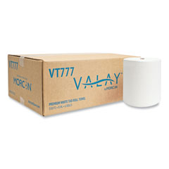 """Morcon Tissue Valay Proprietary TAD Roll Towels, 1-Ply, 7.5"""" x 550 ft, White, 6 Rolls/Carton"""