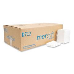 Morcon Tissue Morsoft Dispenser Napkins, 1-Ply, 3.5 x 5, White 400/Pack, 20 Packs/Carton