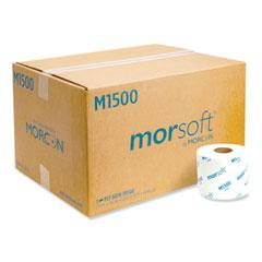 "Morcon Tissue Morsoft Controlled Bath Tissue, Split-Core, Septic Safe, 1-Ply, White, 3.9"" x 4"", 1500 Sheets/Roll, 48 Rolls/Carton"