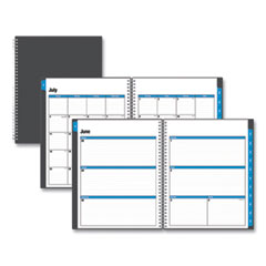 Blue Sky® Academic Year Collegiate Weekly/Monthly Planner, 11 x 8.5, Charcoal, 2021-2022