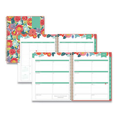 Blue Sky® Day Designer Academic Year Frosted Weekly/Monthly Planner, 11 x 8.5, Floral Sketch, 2021-2022