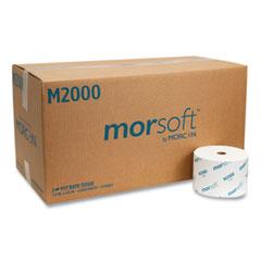 "Morcon Tissue Small Core Bath Tissue, Septic Safe, 1-Ply, White, 3.9"" x 4"", 2000 Sheets/Roll, 24 Rolls/Carton"