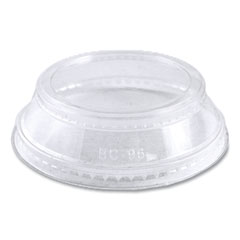 World Centric® Ingeo PLA Clear Cold Cup Lids, Dome Lid, Fits 2 oz Portion Cup and 9 oz to 24 oz Cups, 1,000/Carton