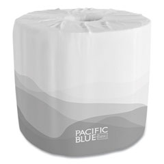 Georgia Pacific® Professional Pacific Blue Basic Embossed Bathroom Tissue, Septic Safe, 1-Ply, White, 550/Roll, 80 Rolls/Carton