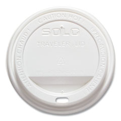 Dart® Cappuccino Dome Sipper Lids, Fits 10 oz to 24 oz Cups, White, Polystyrene, 500/Carton