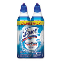 LYSOL® Brand Toilet Bowl Cleaner with Hydrogen Peroxide, Ocean Fresh, 24 oz Angle Neck Bottle, 2/Pack, 4 Packs/Carton