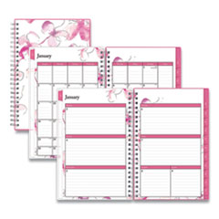 Blue Sky® Breast Cancer Awareness Weekly/Monthly Planner, 8 x 5, Orchid, 2022