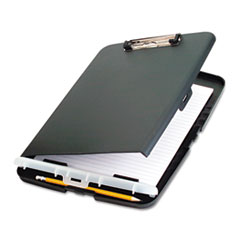 "Low Profile Storage Clipboard, 1/2"" Capacity, Holds 9w x 12h, Charcoal"