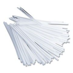 "Office Snax® Plastic Stir Sticks, 5"", Plastic, White, 1000/Box"