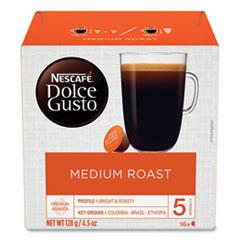 Dolce Gusto Coffee Capsules, Medium Roast, 12 oz, Capsule, 3/Carton