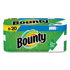 Bounty® Select-a-Size Kitchen Roll Paper Towels, 2-Ply, White, 5.9 x 11, 123 Sheets/Roll, 8 Double Plus Rolls/Pack