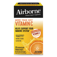 Airborne® Immune Support Effervescent Powder On-The-Go Packs, Orange, 20 Count