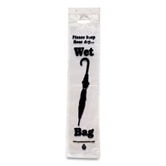 "Tatco Wet Umbrella Bags, 7"" x 31"", Clear, 1,000/Box"