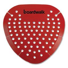 Boardwalk® Urinal Screen, Cherry Fragrance, Red, 12/Box