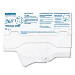 Scott® Personal Seats Sanitary Toilet Seat Covers, 15 x 18, White, 125/Pack