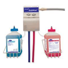 Diversey™ J-Fill SinkMizer Sink Filling System 2, 2.5 L, Two Dispenser, 6.5 x 3 x 10.5, Stainless Steel