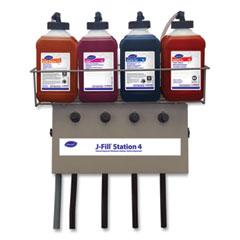 Diversey™ J-Fill Station 4 Chemical Dispenser, 2.5 L, Four Dispenser, 19 x 6.75 x 25.5, Stainless Steel