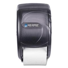 San Jamar® Duett Standard Bath Tissue Dispenser, Oceans, 7 1/2 x 7 x 12 3/4, Black Pearl