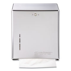 San Jamar® C-Fold/Multifold Towel Dispenser, 11.38 x 4 x 14.75, Chrome