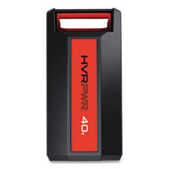Hoover® Commercial HVRPWR 40V Lithium Battery, 6 Ah, 60 Min Charge Time, Black/Red