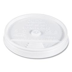 Dart® Plastic Lids, Fits 12 oz to 24 oz Foam Cups, Vented, Translucent, 100/Pack, 10 Packs/Carton