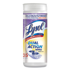 LYSOL® Brand Disinfecting Wipes, Dual Action, Citrus, 7 x 7.5, 35/Canister