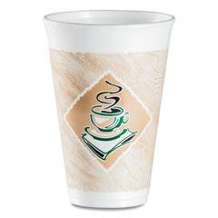 Dart® Café G Foam Hot/Cold Cups, 16 oz, Brown/Green/White, 1,000/Carton