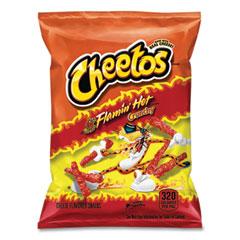 Cheetos® Crunchy Cheese Flavored Snacks, Flamin' Hot, 2 oz Bag, 64/Carton