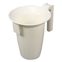 "Impact® Value-Plus Toilet Bowl Caddy, Plastic, 16""h x 4.37"" dia, White"