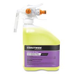 Coastwide Professional™ DC Plus Neutral Disinfectant-Cleaner Concentrate for EasyConnect Systems, Lemon Scent, 3.17 qt Bottle, 2/Carton