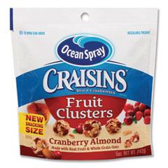Ocean Spray® Craisins Fruit Clusters, Cranberry Almond, 5 oz Resealable Bag, 12/Carton