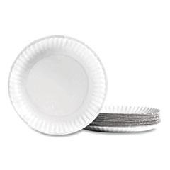 """Perk™ Economy Paper Plates, 9"""", White, 100/Pack"""