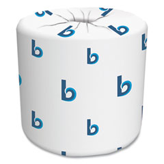 Boardwalk® Two-Ply Toilet Tissue, Septic Safe, White, 4.5 x 3.75, 500 Sheets/Roll, 96 Rolls/Carton