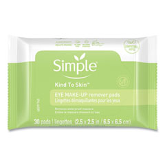 Eye And Skin Care, Eye Make-Up Remover Pads, 30/Pack, 6 Packs/Carton