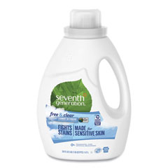 Seventh Generation® Natural 2X Concentrate Liquid Laundry Detergent, Free and Clear, 33 loads, 50 oz